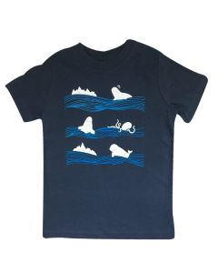 Navy Toddler Beluga Tee