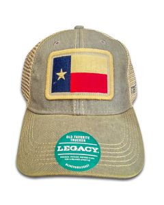 Baseball cap with a Texas Flag patch.