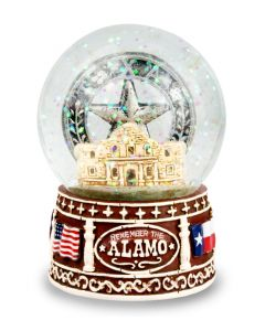"""Remember the Alamo"" Snow Globe - front"