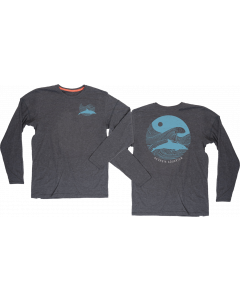 Adult Long-Sleeve Sustainable ''Dolphin Waves'' Tee