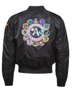 Adult Apollo 11 Reversible Bomber Jacket Back
