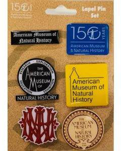 Set of 6 AMNH Logo Commemorative Pins