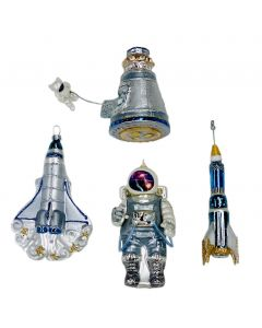 Assorted Glass Space-Themed Ornaments