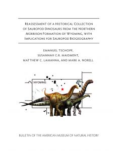 B437 Reassessment of a Historical Collection of Sauropod Dinosaurs