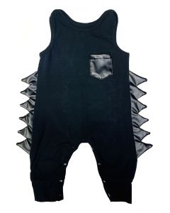 Infant / Toddler Black Dino Spike Romper