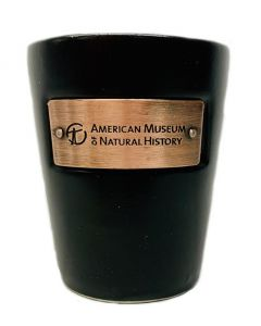 Black Ceramic Museum Emblem Shot Glass