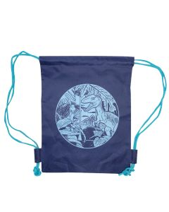 Blue Raptor Drawstring Backpack