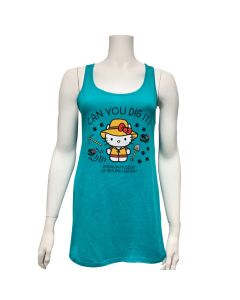 Ladies Hello Kitty Can You Dig It Dolman Tank Top