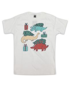 Youth Holiday Dinos and Trees T-Shirt
