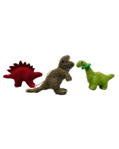 Assorted Felt Dinosaur Ornaments