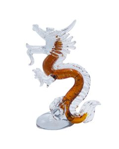 Handcrafted Glass Golden Dragon