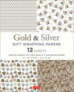 Gold and Silver Gift Wrapping Papers
