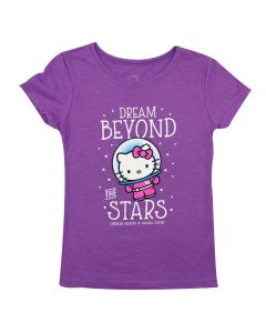 Girls Purple Hello Kitty Dream Beyond The Stars T-Shirt