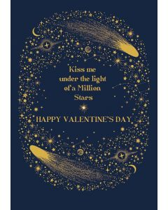Kiss Me Under The Light Of A Million Stars Card