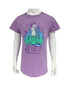 Girls Lavender Dino Liberty T-Shirt