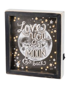 Love You To The Moon and Back Light Up Sign