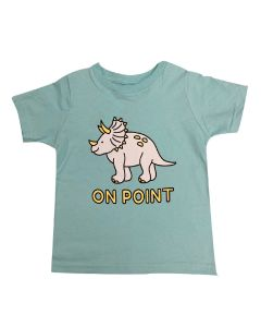 Toddler Triceratops On Point T-Shirt