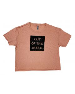Ladies Out Of This World Cropped T-Shirt
