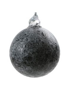 Large Glass Moon Glow-In-The-Dark Ornament