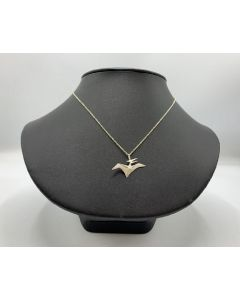 Sterling Silver Origami Pterodactyl Necklace