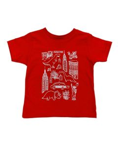 Toddler Red NYC Icons T-Shirt