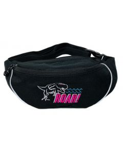 Roar! Black Embroidered Fanny Pack