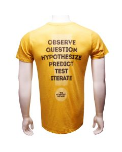 Adult Mustard Yellow T-Shirt: The Scientific Method Back