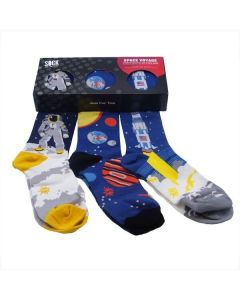 Adult Gift Boxed Set of Space Voyage Socks