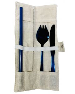 Reusable Silverware and Straw Set