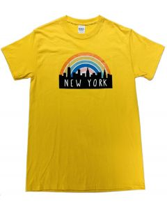 Adult Yellow Rainbow T-Shirt