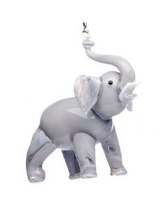 Glass Elephant Ornament
