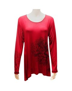 Ladies Long Sleeve Tree Tunic