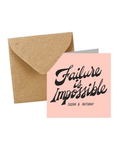 ''Failure is Impossible'' Notecard