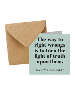 ''Way to Right Wrongs'' Notecard