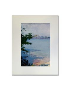 ''Dublin Pond, New Hampshire'' Matted Print