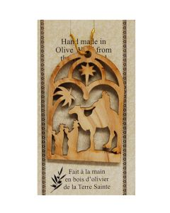 "Olive Wood ""3 Wise Men"" Ornament"