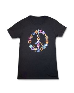 Ladies Peace Sign Coexist Tee