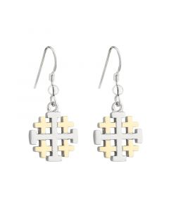 Solvar Jerusalem Cross Drop Earrings