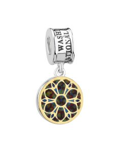 Sterling Silver Rose Window Charm