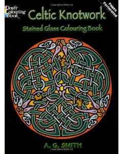 Celtic Knotwork Stained Glass Colouring Book
