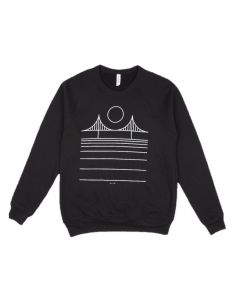 Adult Minimal Bridge Crew Sweatshirt