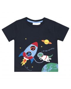 Boys Space Dino Appliqué Tee