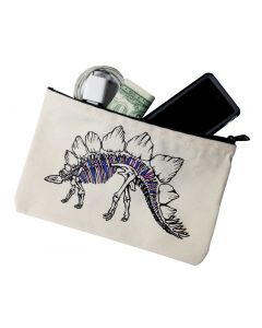 Stegosaurus Canvas Zipper Pouch