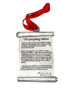 Gettysburg Address Pewter Ornament