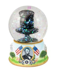 Lincoln's Hat Snow Globe