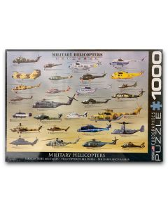 Military Helicopter 1,000 Piece Eurographics Puzzle