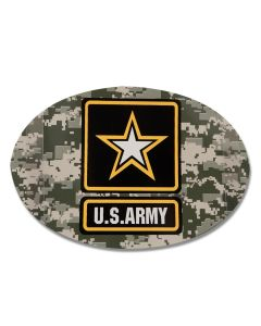 US Army Oval Camo Magnet With Star