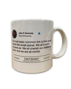 JFK Words Count Mug