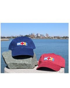 Needlepoint JFK Signal Flag Hat by Smathers & Branson