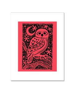 Letterpress Owl Matted Print